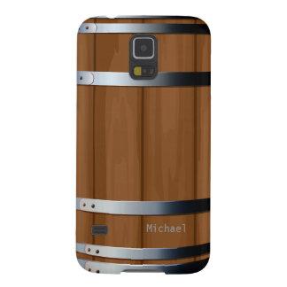 Caja de madera retra de la galaxia S5 del barril Carcasas Para Galaxy S5