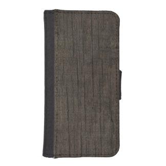 Caja de madera rústica occidental para hombre de fundas billetera de iPhone 5