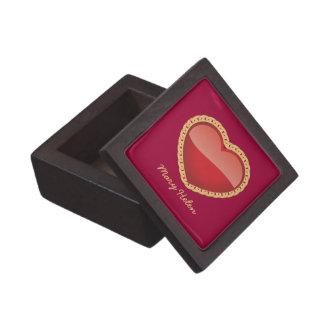 Caja de madera superior de la baratija del corazón cajas de joyas de calidad