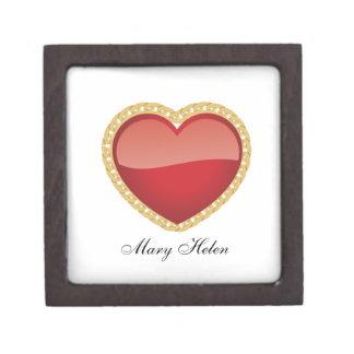 Caja de madera superior de la baratija del corazón cajas de recuerdo de calidad