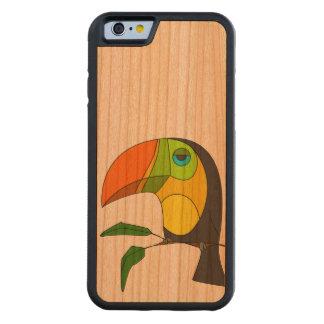 caja de madera Toucan de la cereza de parachoques Funda De iPhone 6 Bumper Cerezo