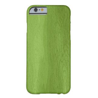 Caja de madera verde del iPhone 6 del diseño Funda Barely There iPhone 6