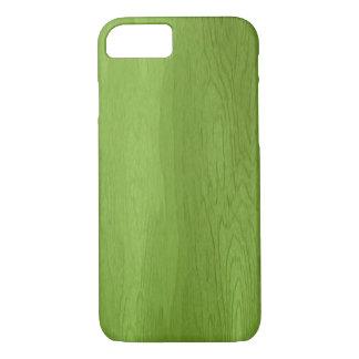 Caja de madera verde del iPhone 7 del diseño Funda iPhone 7