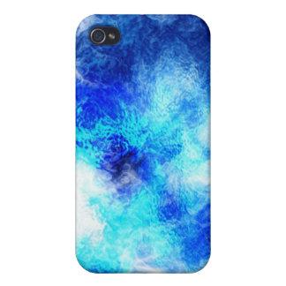 Caja de mármol azul de la mota iPhone 4/4S carcasas