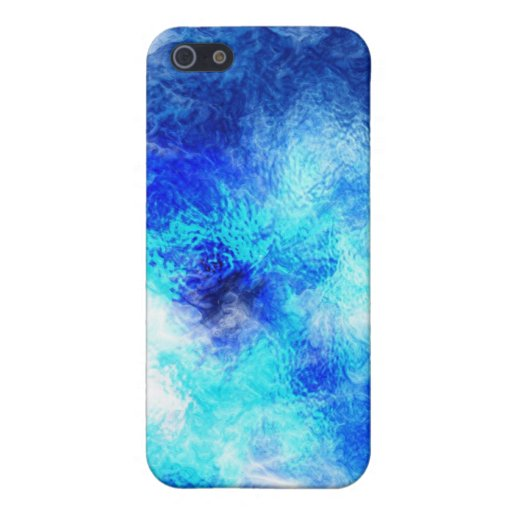 Caja de mármol azul de la mota iPhone 5 carcasa