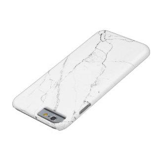 """caja """"de mármol"""" blanca del iPhone 6 Funda Para iPhone 6 Barely There"""