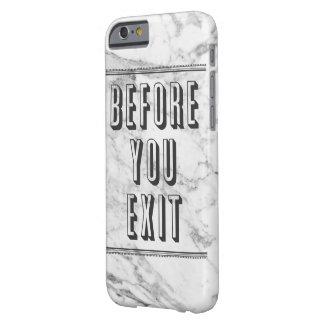 Caja de mármol del teléfono del ADIÓS Funda De iPhone 6 Barely There