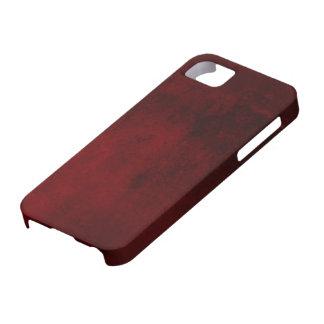 Caja de mármol roja del compañero del caso del funda para iPhone SE/5/5s