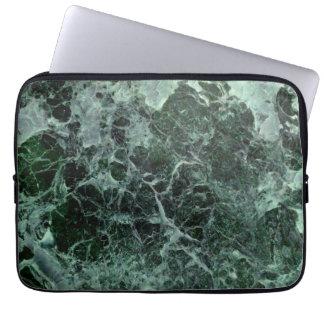 Caja de mármol verde del ordenador portátil mangas computadora