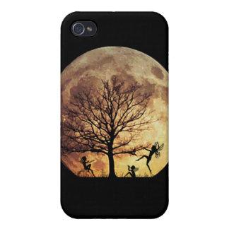 Caja de medianoche de la mota de la danza de la lu iPhone 4 carcasas