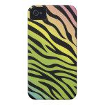 Caja de moda de Blackberry del estampado de zebra iPhone 4 Case-Mate Carcasa