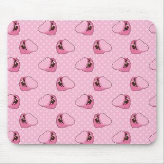Caja de modelo de los chocolates mouse pads