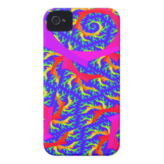 Caja de neón de Blackberry del arte del fractal iPhone 4 Case-Mate Carcasa