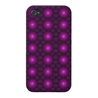 Caja de neón púrpura bonita de la mota de Iphone d iPhone 4 Cárcasas