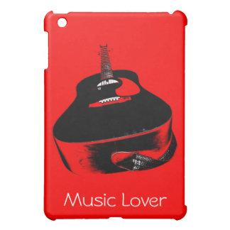 Caja de neón roja del iPad del instrumento de músi