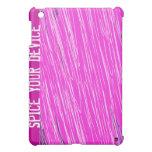 Caja de neón rosada de la mota del iPad del rasguñ