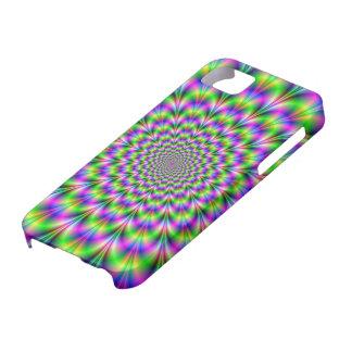 Caja de neón rosada y verde del iPhone 5 de la iPhone 5 Case-Mate Fundas