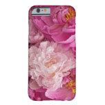 Caja de niña del teléfono 6 del Peony rosado Funda De iPhone 6 Barely There