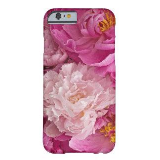 Caja de niña del teléfono 6 del Peony rosado Funda Para iPhone 6 Barely There