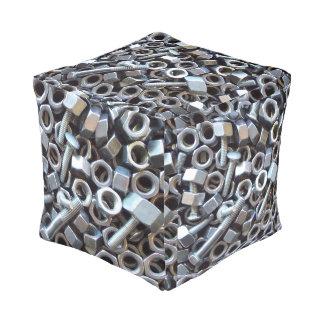 Caja de nueces - y - pernos puff cuadrado