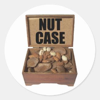 Caja de nuez pegatina