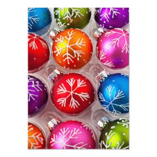 """Caja de ornamentos del navidad del copo de nieve invitación 5"""" x 7"""""""
