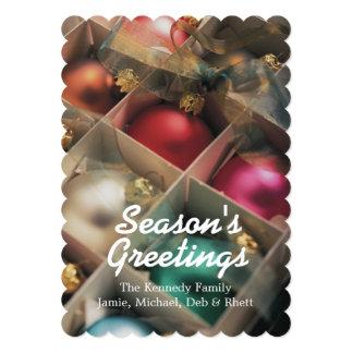 """Caja de ornamentos del navidad invitación 5"""" x 7"""""""