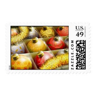 Caja de ornamentos sellos postales