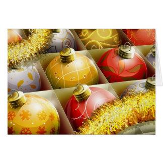 Caja de ornamentos tarjeta de felicitación
