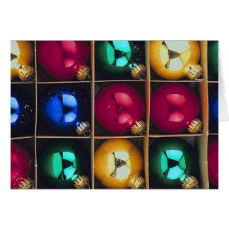 Caja de ornamentos tarjeta pequeña