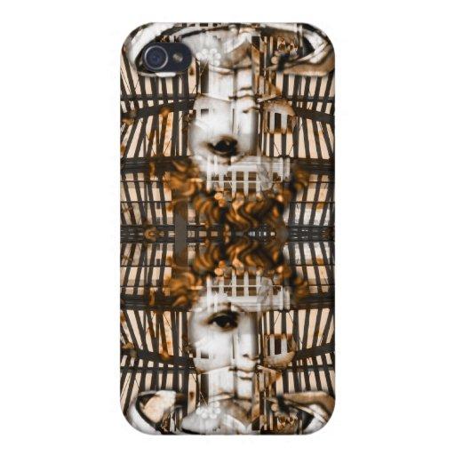 Caja de oro cibernética del iPhone del ángel iPhone 4/4S Fundas