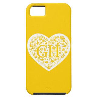 Caja de oro de Iphone 5 del logotipo de la clase iPhone 5 Fundas
