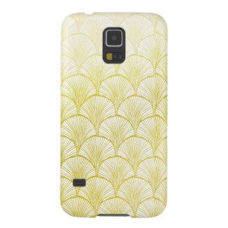 Caja de oro de la galaxia S5 de Samsung de la fan Carcasa Para Galaxy S5