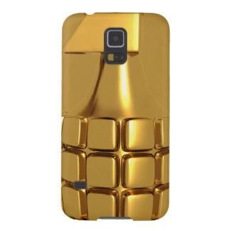 Caja de oro de la galaxia S5 de Samsung de la Funda De Galaxy S5