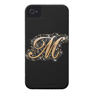 """Caja de oro de la inicial """"M"""" - Blackberry iPhone 4 Cobertura"""