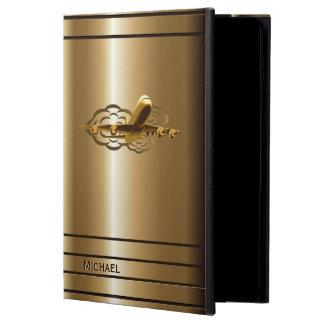 Caja de oro del aire del iPad de los aviones del a