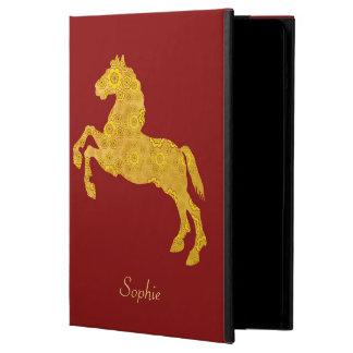 Caja de oro del aire del iPad del caballo del mode