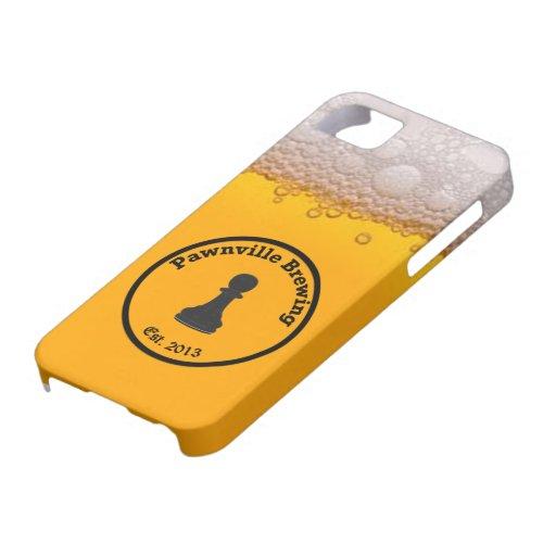 Caja de oro del empeño del iPhone 5 de la elaborac iPhone 5 Carcasas