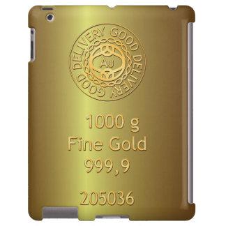 Caja de oro del iPad del estilo del lingote de oro Funda Para iPad