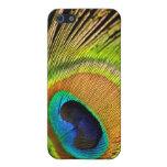 Caja de oro del iPhone 4/4S de la pluma del pavo r iPhone 5 Protector