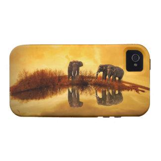 Caja de oro del iphone 4 de la reflexión de la pue Case-Mate iPhone 4 carcasa