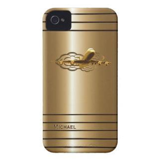 Caja de oro del iPhone 4 de los aviones del avión iPhone 4 Case-Mate Carcasas
