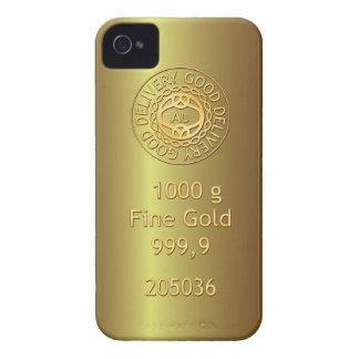 Caja de oro del iPhone 4 del estilo del lingote de Case-Mate iPhone 4 Funda