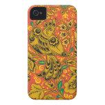 Caja de oro del iphone 4s del pájaro Case-Mate iPhone 4 cárcasa