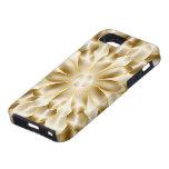 Caja de oro del iPhone 5 de la flor (caso del ambi iPhone 5 Case-Mate Fundas