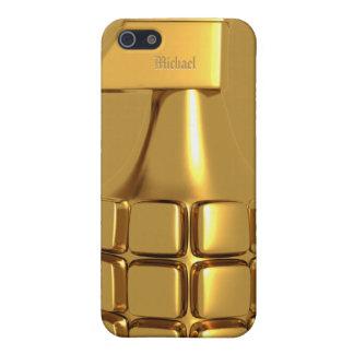 Caja de oro del iPhone 5 de la granada de mano iPhone 5 Cárcasas