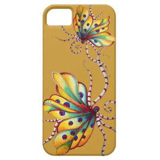 Caja de oro del iPhone 5 de la mariposa increíble iPhone 5 Carcasas
