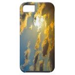 Caja de oro del iPhone 5 de las nubes que brilla i iPhone 5 Protectores