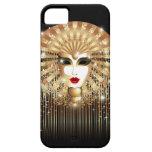 Caja de oro del iPhone 5 del carnaval de la máscar iPhone 5 Case-Mate Carcasa