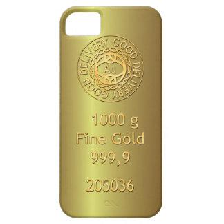 Caja de oro del iPhone 5 del estilo del lingote de iPhone 5 Carcasas